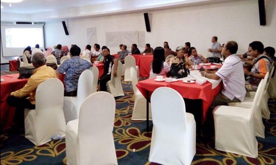 Suasana pelaksanaan Bimtek Pemungutan dan Perhitungan Suara oleh KPUD Kabupaten Bolmong