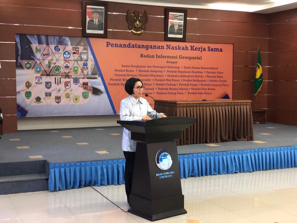 Bupati Bolmong Wakili Kepala Daerah se Indonesia Sampaikan Hal Ini Saat MoU Dengan BIG