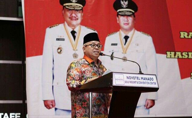 Wabup Bolmut Hadiri Rakorev Hasil RKPD Kabupaten/Kota Tahun 2018