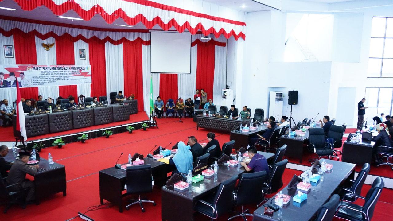 DPRD Kota Kotamobagu Gelar Paripurna Lima Rancangan Perda