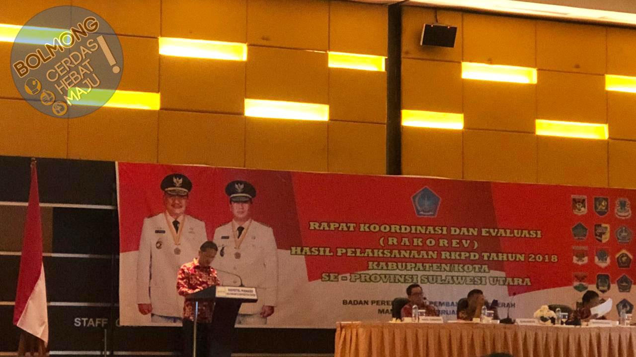 Wabup Bolmong Hadiri Rakorev Hasil RKPD Oleh Pemprov Sulut