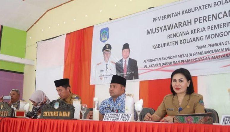 Buka Musrenbang, Bupati Iskandar Targetkan Pertumbuhan Ekonomi Bolsel Capai 6,50 Persen Tahun Ini