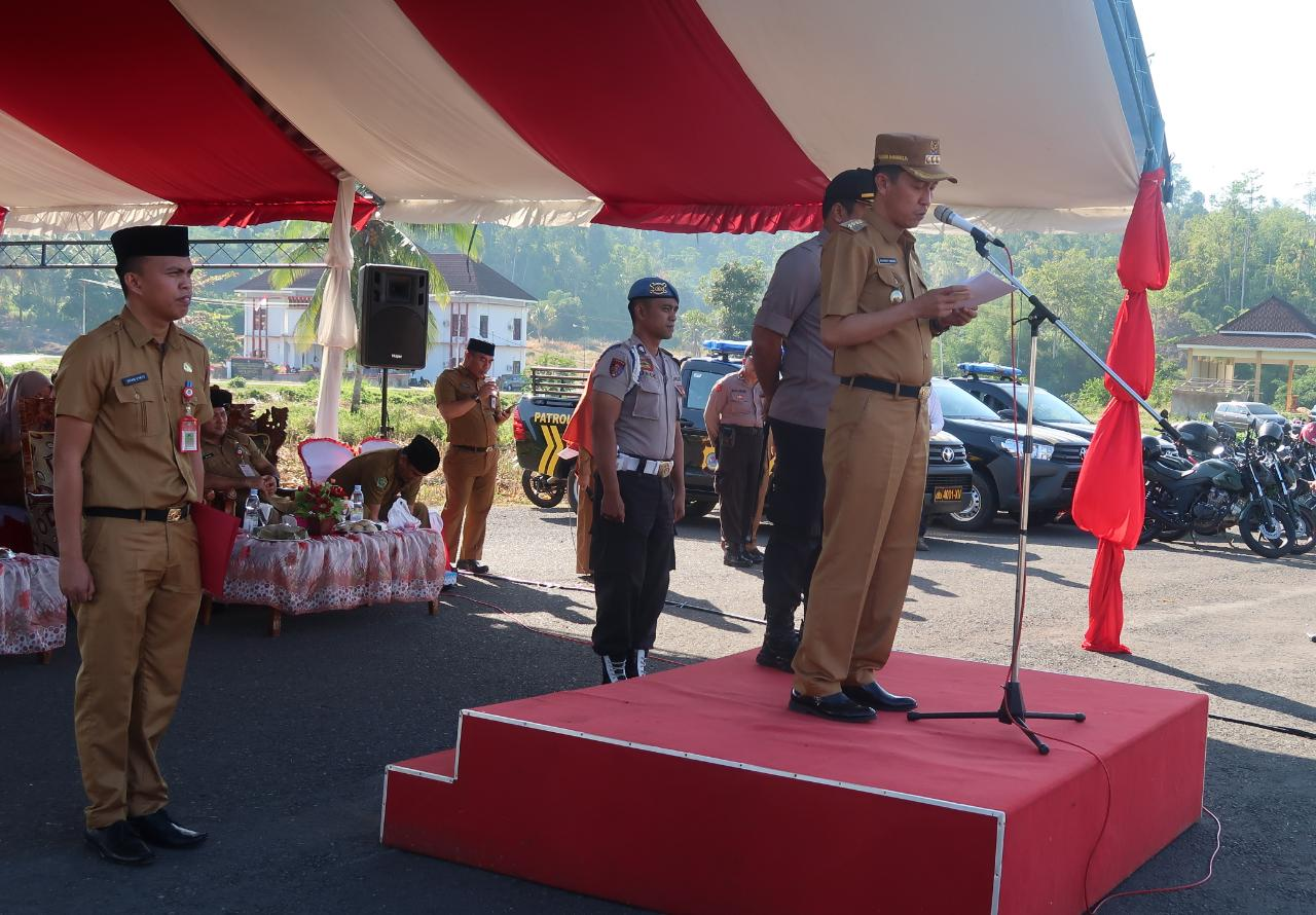 Bupati Iskandar Hadiri Apel Gelar Pasukan di Bolmong Selatan