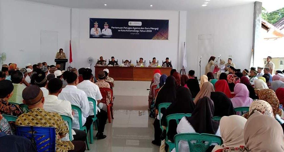 Walikota Kota Kotamobagu Minta Petugas Agama Ikut sukseskan Pemilu 2019