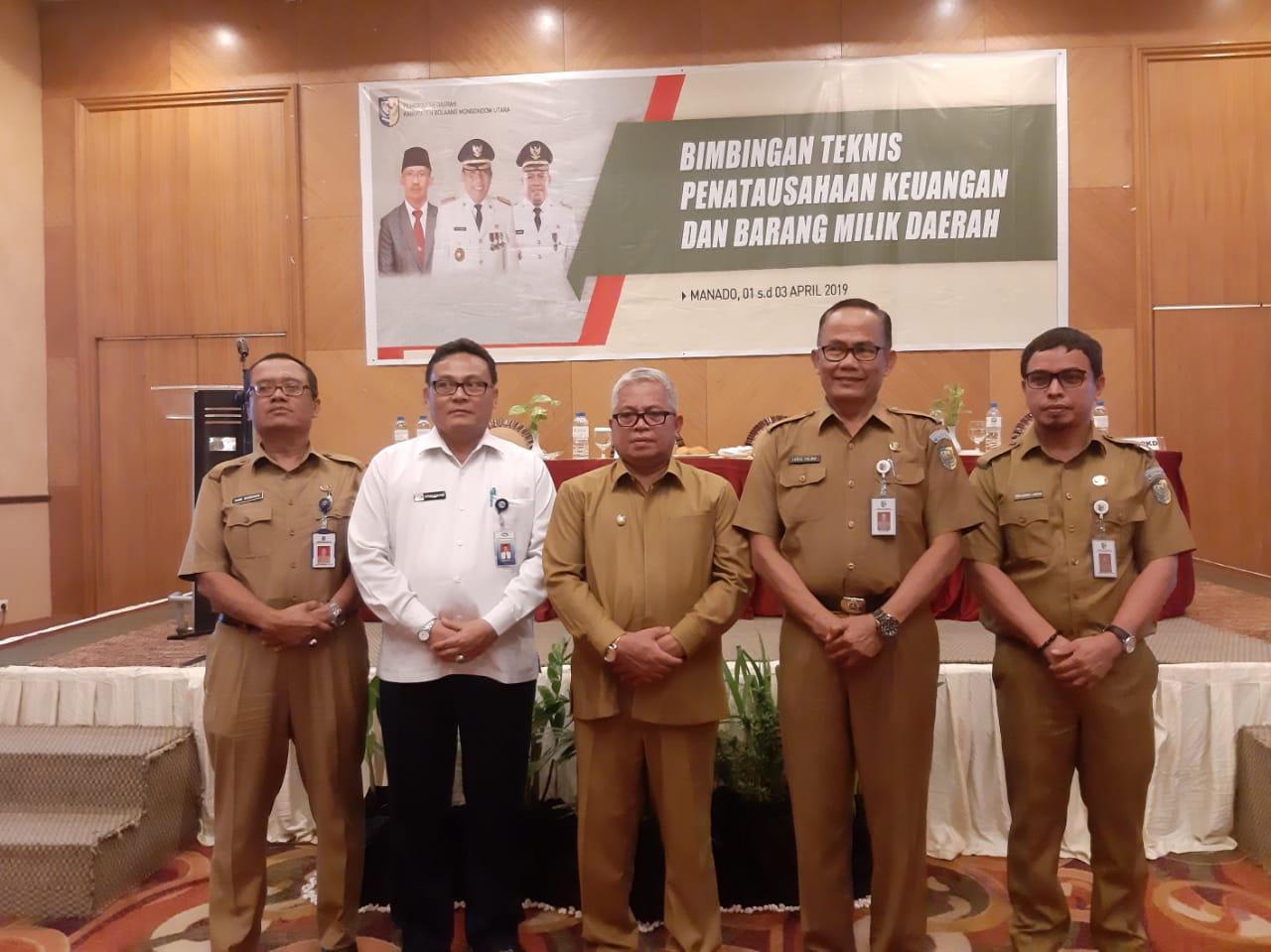 Wakil Bupati Bolmut Buka Bimtek Penatausahaan Keuangan dan BMD