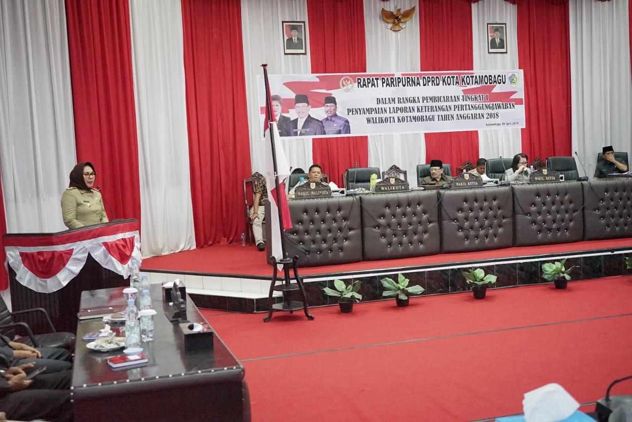 Walikota Sampaikan LKPJ Tahun 2018 ke DPRD Kota Kotamobagu