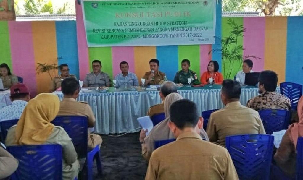 Tahlis Buka Konsultasi Publik Dan FGD KLHS Revisi RPJMD Bolmong