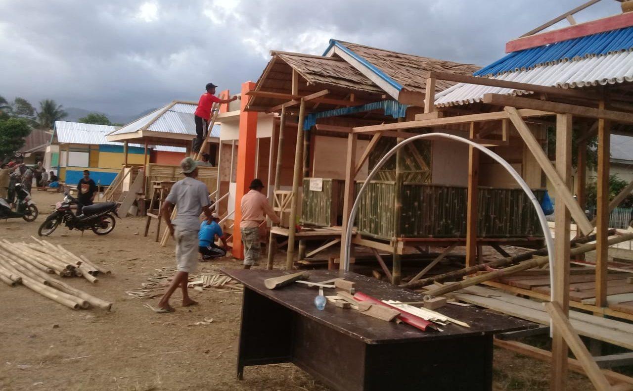 Ramaikan Jumbara, Pemerintah Desa di Boltim Mulai Bangun Stand di Tutuyan