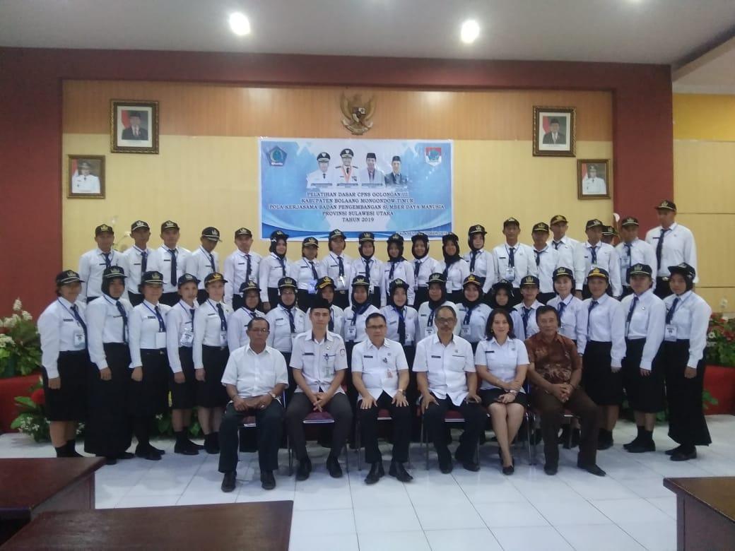 Ratusan CPNS Boltim Jalani Pelatihan Dasar di Manado