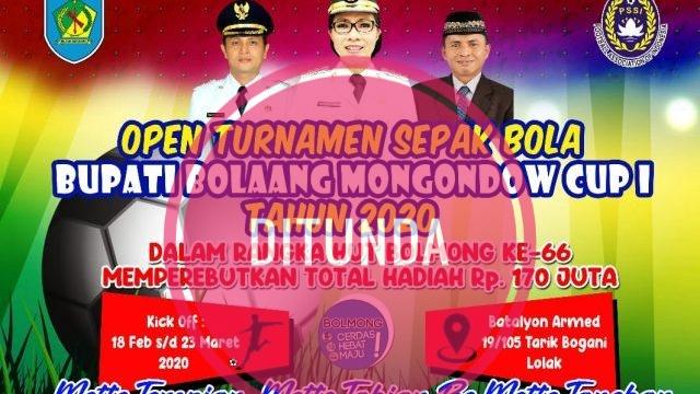 Semi Final Bupati Bolmong Cup I Ditunda