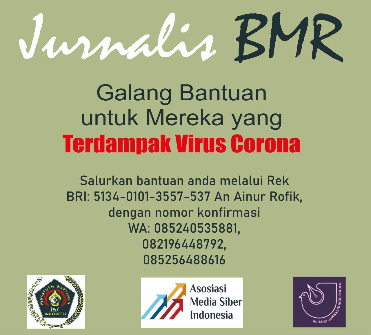 Jurnalis BMR Galang Bantuan untuk Warga Terdampak Covid-19