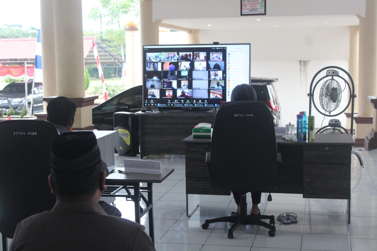 Pemkab Bolmong Selesaikan 3 Agenda Besar Secara Daring
