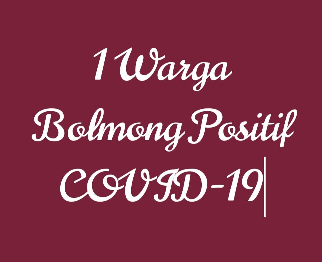 Satu Warga Bolmong Positif COVID-19 Berdasarkan Hasil Swab Test