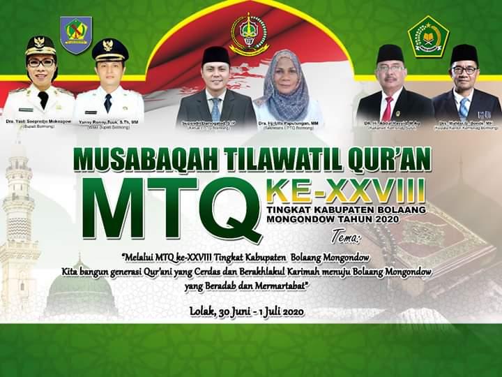 Tiga Kategori Dilombakan Dalam MTQ ke - 28 Tingkat Kabupaten Bolmong