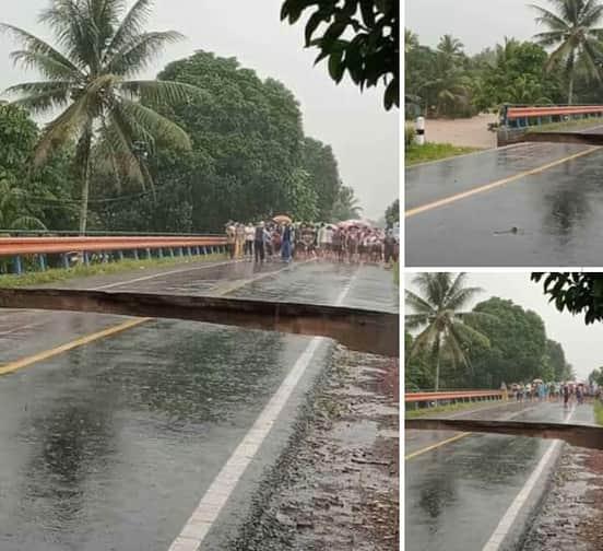 Jembatan Kosio Putus Dihantam Banjir