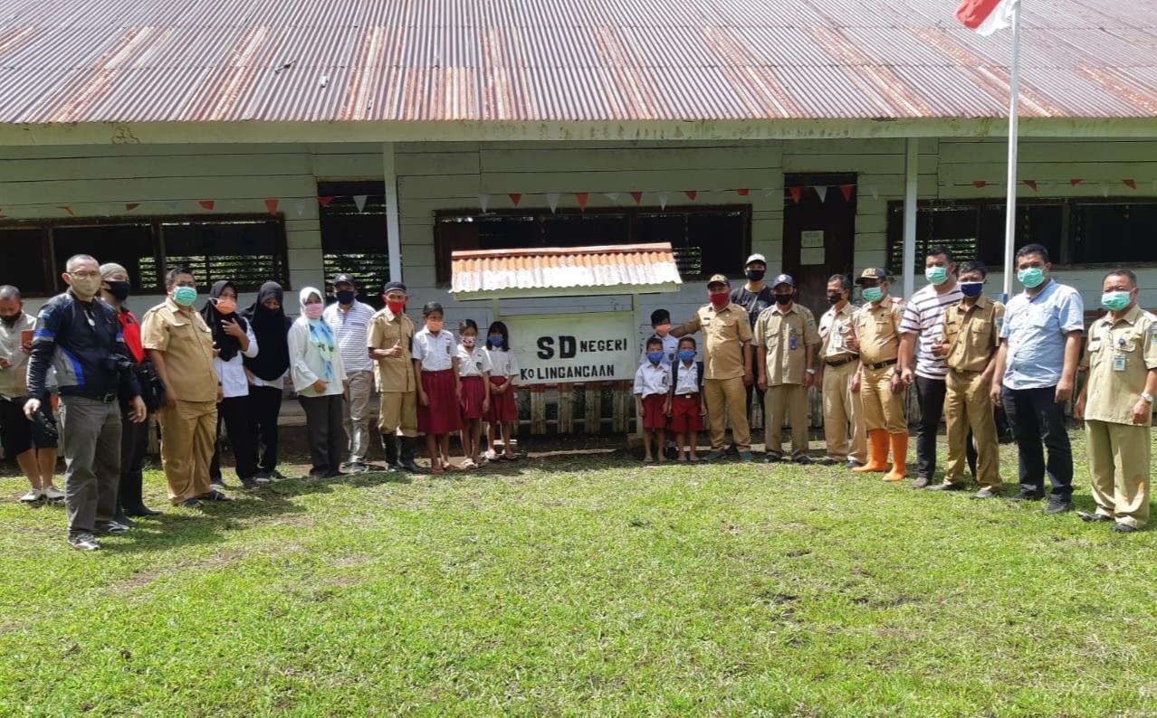 Disdik Bolmong Kunjungi  Desa Kolingangaan
