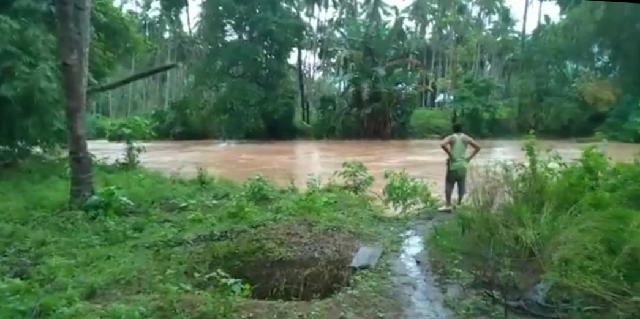 Volume Air  Sungai Tuodan Naik Drastis, Petani di Langagon Tak Bisa Pulang