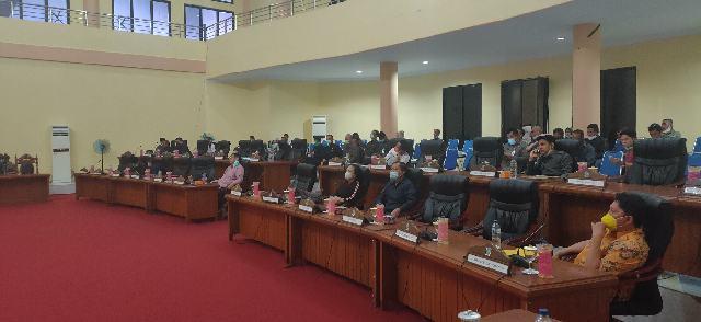 DPRD Gelar Rapat Paripurna Tingkat I Ranperda APBD TA 2021