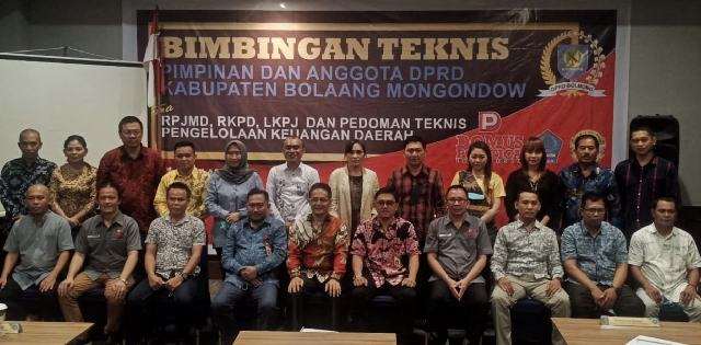 DPRD Bolmong Ikut Bimtek RPJMD, RKPD, LKPJ dan Pengelolaan Keuangan Daerah