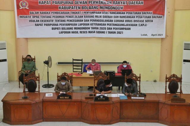 DPRD Bolmong Gelar Dua Agenda Paripurna