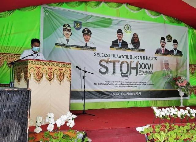 STQH Ke XXVI Tingkat Kabupaten Bolmong Resmi Dibuka