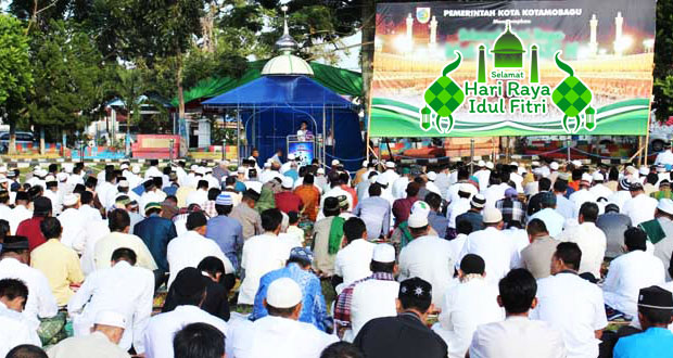 Sholat Idul Fitri di Kotamobagu