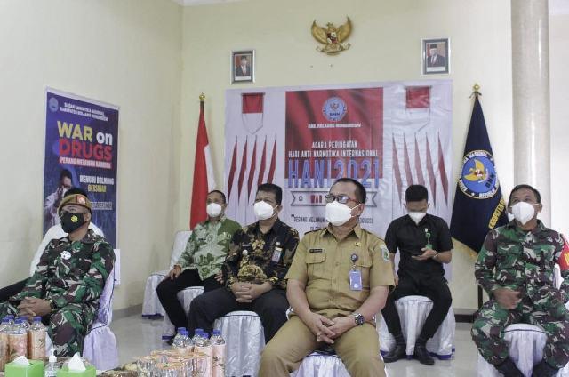 Pemkab Bolmong Dukung Upaya Memerangi Narkoba
