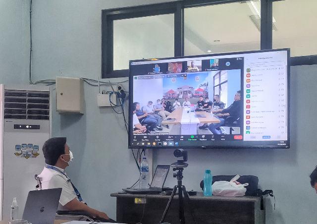 Diskominfo Bolmong Bahas Strategi Penyebarluasan Informasi Penanganan Pandemi Bersama Media Partner