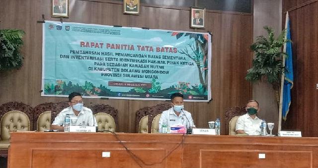 Pemkab Bolmong Apresiasi Pembahasan Kawasan Hutan dan Tata Batas