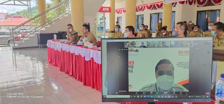 Pemkab Bolmong Ikuti Evaluasi Penerapan SAKIP dan Reformasi Birokrasi