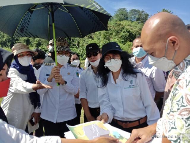 Dampingi Kementerian Investasi dan BKPM, Yasti Meninjau Lahan PT Kimong