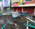 Perahu Dan Sampah Berserakan di Kawasan Mega Mas Manado Pagi Ini