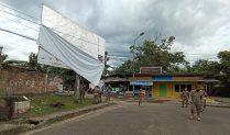 Baliho Kadaluarsa di Kotamobagu Mulai Dibersihkan Satpol-PP