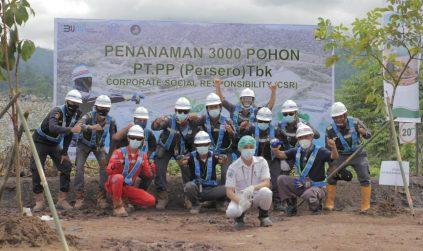 PT. PP di Proyek Bendungan Lolak Tanam 3000 Pohon Dalam Event CSR