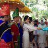 Prosesi Jemputan Adat Sambut Kedatangan Bupati dan Wakil Bupati Bolmong Baru