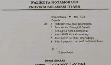 Warga Kotamobagu Dihimbau Gelar Sholat Idul Fitri di Lapangan Terbuka