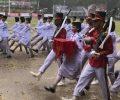 Jiwa Patriotisme Paskibra Kotamobagu tak Luntur Meski Hujan Mengguyur
