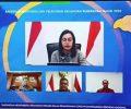Wali Kota Tatong Bara Ikuti Rakernas Bersama Menteri Keuangan Sri Mulyani