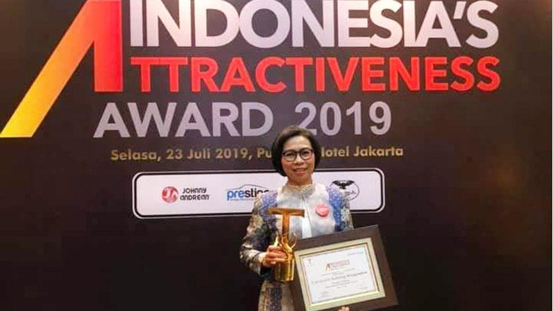 Bupati Bolaang Mongondow Raih Platinum Indonesia Atractiveness Award 2019