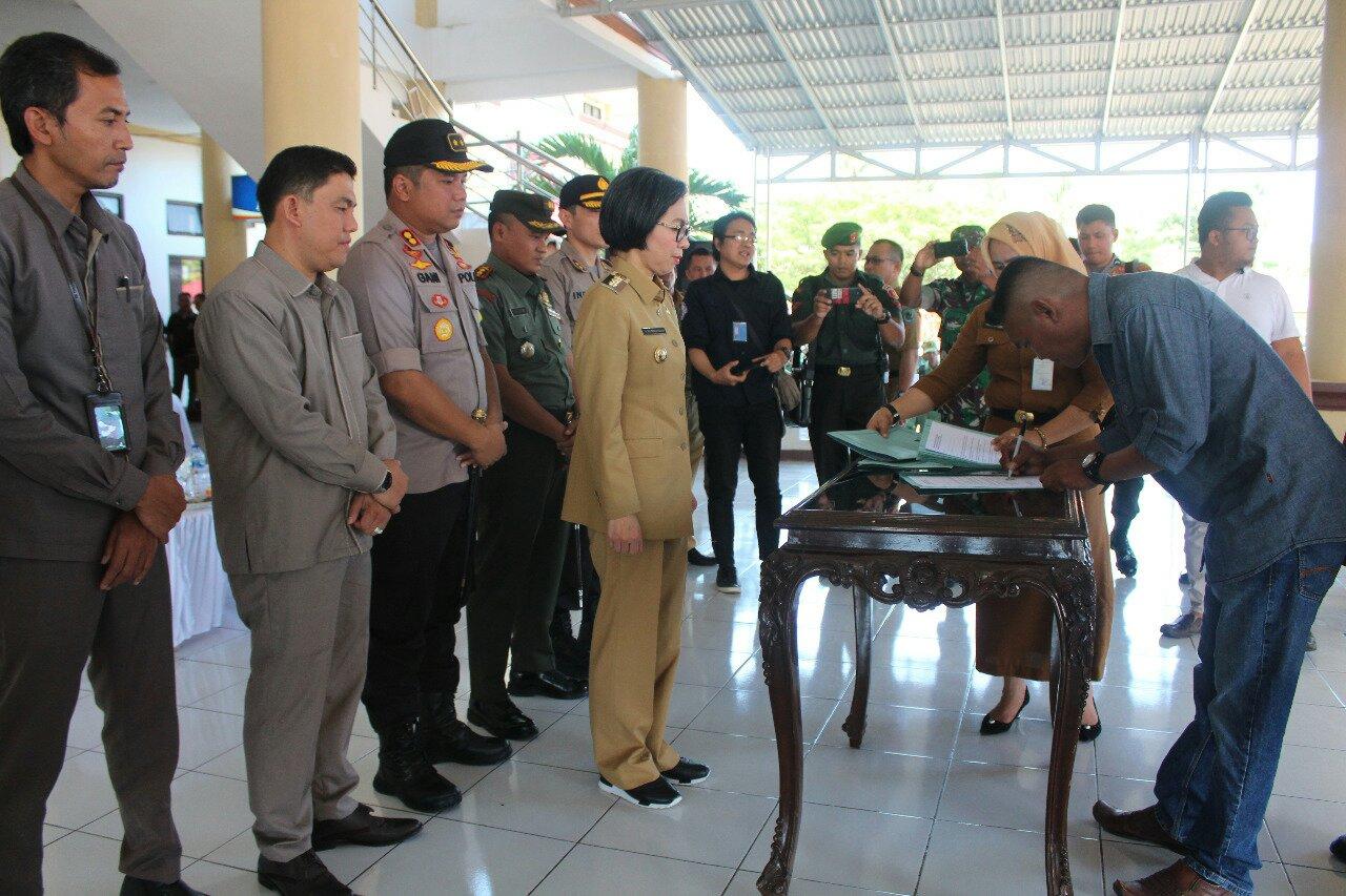 Calon Sangadi di Bolmong Deklarasikan Pilsang Damai