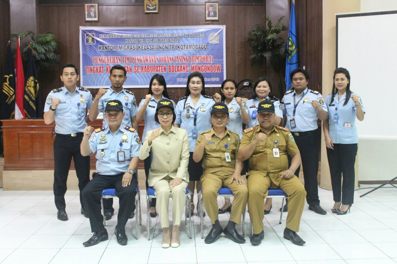 Tingkatkan Pengawasan Orang Asing, Yasti Resmikan Timpora Bolmong