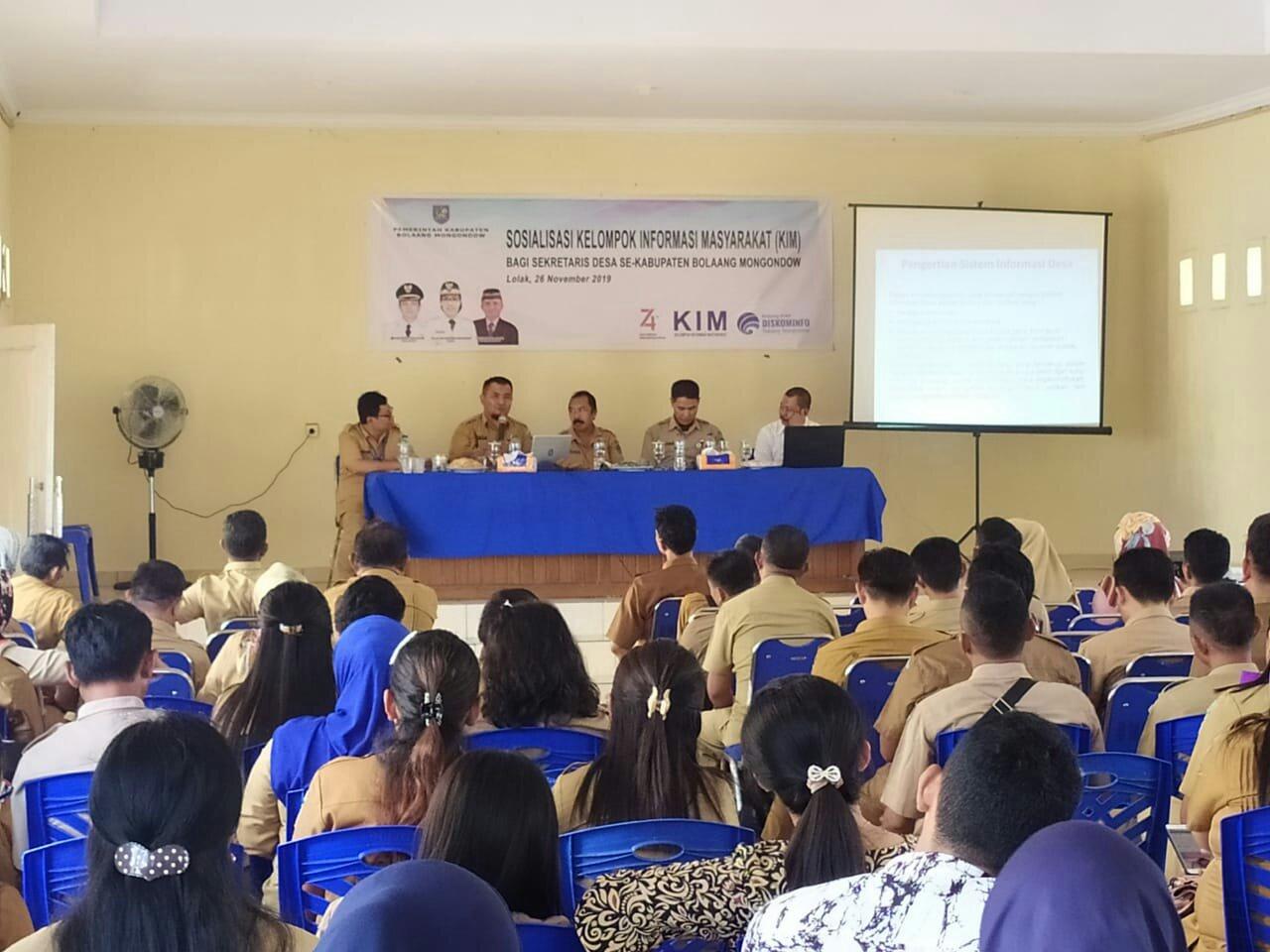 Sekdes di Bolmong Dituntut Mampu Menjadi Sumber Informasi Bagi Desa