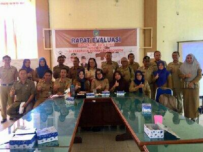 Rapat Evaluasi Kabupaten Sehat Digelar Bappeda Bolmong