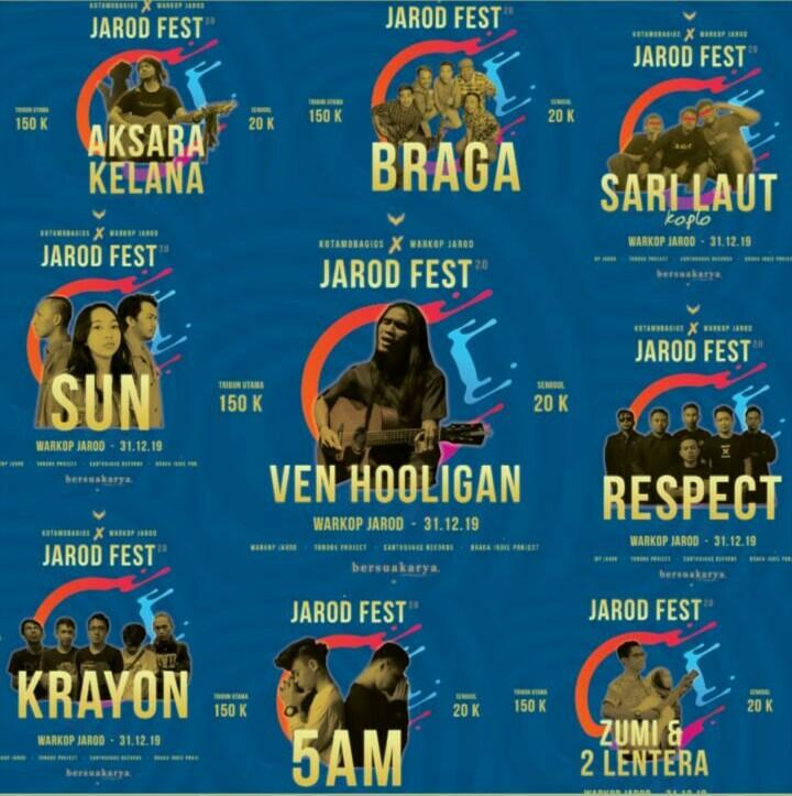 Barisan Band Indie BMR Siap Meramaikan Jarod Fest. 2.0