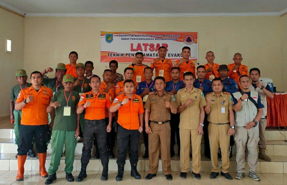 Linmas Kecamatan Lolak Dilatih Mitigasi Bencana