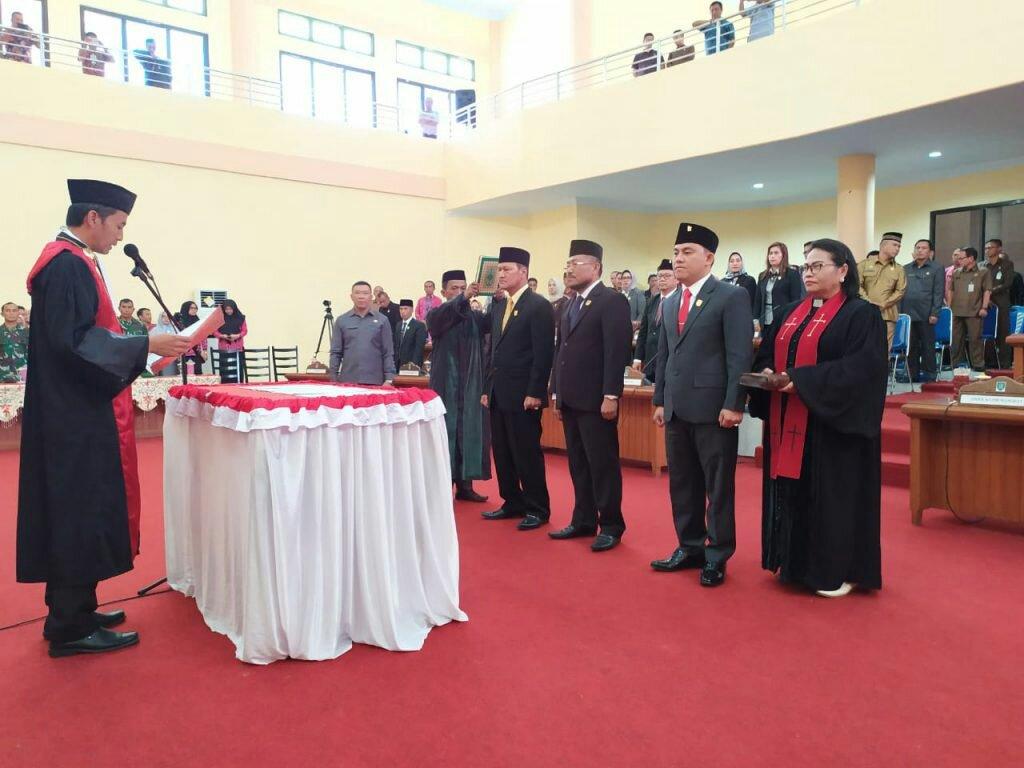 DPRD Bolmong Resmi Miliki Tiga Pimpinan Definitif