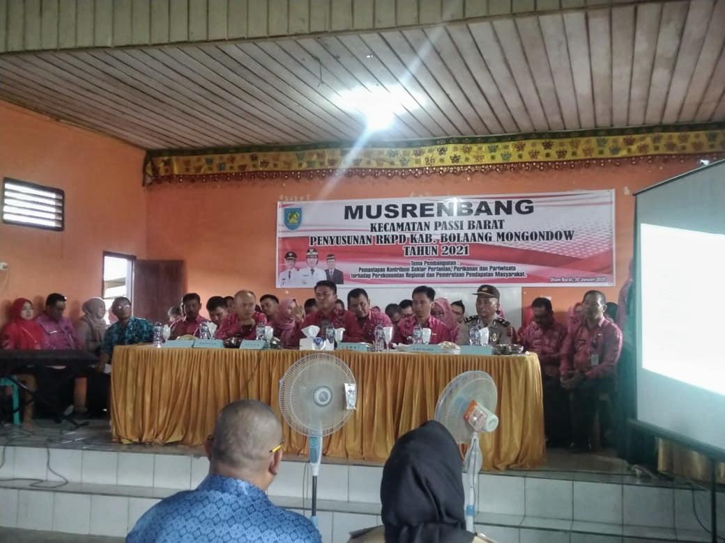 Tahlis Buka Secara Resmi Pelaksanaan Musrenbang RKPD Tahun 2021 di Passi Barat